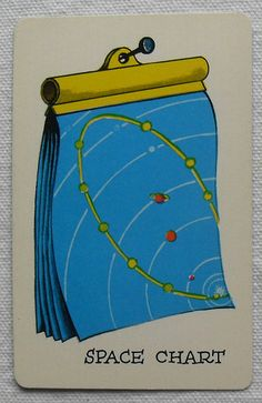 1950s 1960s Vintage Atomic Style SPACE O Outer Space Playing Game Cards Midcentury Space Chart Cartoon by Christian Montone, via Flickr