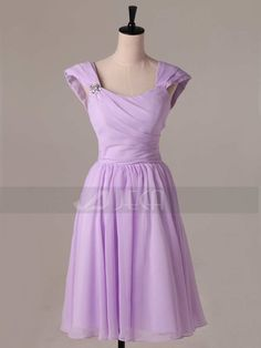 Hey, I found this really awesome Etsy listing at https://www.etsy.com/listing/172561924/a-line-cap-sleeves-tea-length-bridesmaid