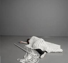 300 knitted carpet by Sebastian Schoenheit.