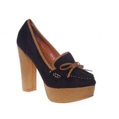 Pantofi cu platforma negri Rachel