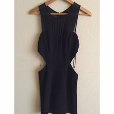 "Cut Out sheer detail Little Black Dress The perfect night out or ""Vegas"" dress, with cutouts on the side. Very pretty sweetheart cut detail. Body con that fits true to size. Worn once for an event. Forever 21 Dresses Mini"