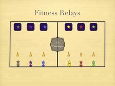 Physical Education Games fitness relay