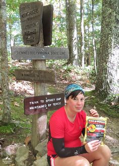 Falling Angel of Backpacking Engineer enjoying some Whiskey Row SNATCH beef jerky on a recent hike.