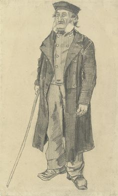 Old Man with a Stick, 1882, Vincent van Gogh, Van Gogh Museum, Amsterdam (Vincent van Gogh Foundation).