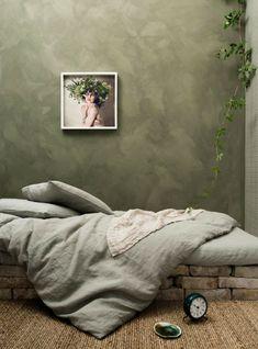 Trending: Rough Textured Walls | Centsational Style Bedroom Green, Modern Bedroom, Bedroom Wall, Modern Bedding, Bedroom Curtains, White Bedroom, Luxury Bedding, Interior Design Living Room, Living Room Decor