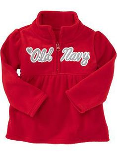 Micro Performance Fleece Logo Pullovers for Baby   Old Navy