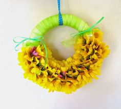 Our Flower Wreath #tutorial #flower #wreath #home #decor #Spring #how to #floral #blog