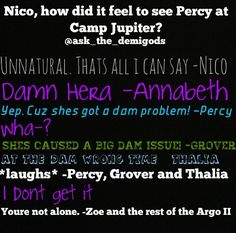 Dam Percy and his friends inside jokes(;