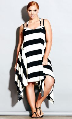 City Chic - STRIPE DRESS  - Women's Plus Size Fashion - not sure about this one