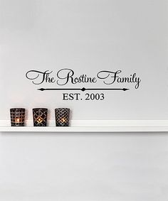 Look what I found on #zulily! Name & Year Established Arrows Personalized Decal #zulilyfinds