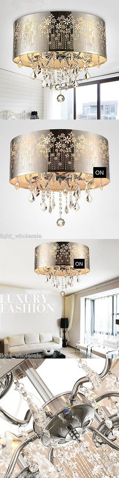 Chandeliers and Ceiling Fixtures 117503: Fixture 4 Lighting Modern Crystal Carving Chrome Ceiling Pendant Lamp Chandelier -> BUY IT NOW ONLY: $95.99 on eBay!