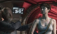 """EW's Sara Vilkomerson leads a spoiler-free conversation with Michael Fassbender, Katherine Waterston, Billy Crudup, and Danny McBride from the cast of """"Alien. Alien Covenant, The Covenant, Blade Runner, Film Prometheus, Danny Mcbride, Fun Moves, Billy Crudup, Interview, Image Film"""