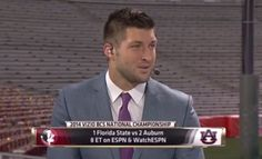 Tebow's ESPN debut. Screen Shot 2014-01-06 at 11.39.38 AM