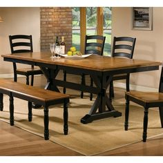 Winners Only DQ14284 Quails Run 84-in Trestle Dining Table