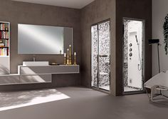 Pasha ti permette di creare una #sauna personale nel tuo #bagno - www.gasparinionline.it #bathroom #steamroom #relax #bagnoturco
