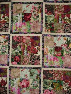 Kaffee Fassett - Summer Glory how is this for a creative quilt!!: