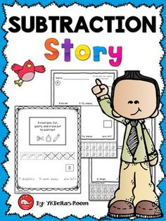 Subtraction Story Problems with models for K-1The models will help your students…