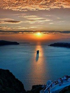 Sunset over the Aegean Sea- in Imerovigli, Santorini Island, Greece Photography by Irwin Scott Imerovigli Santorini, Santorini Island, Santorini Greece, Crete Greece, Athens Greece, Wonderful Places, Beautiful Places, Beautiful Scenery, Places To Travel
