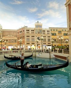 Located in the administrative region of Macao, China, the Venetian is currently the largest casino in the world and offers live shows & concerts, duty free shops, and is decorated like the Italian city of Venice. Even hitch a ride on a gondola along the artificial canals.