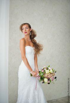 Кружевной свадебный комплект. Handmade.