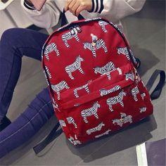 Korean Funny Animal Mermaid Printing Backpack Canvas Women Backpack Casual Travel Bag Students Schoolbag Rucksack Mochilas  #Happy4Sales #bag #shoulderbags #fashion #handbags #L09582 #backpack #bagshop #highschool #YLEY