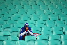 Sad Captain America looks how every U.S. Soccer fan feels sometimes...