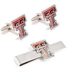 Texas Tech University Red Raiders Cufflinks and Tie Bar Gift Set