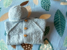 knitting and cakes - for baby