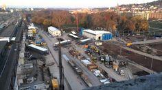 Großbaustelle Stuttgart 21 im Zeitraffer am 18.11.13   Timelapse of Stuttgart 21 construction site