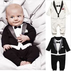 Gentleman Baby Boys Toddler Suit Romper ~ ONLY $16.50 ~ Buy At: http://www.dashingbaby.com/products/gentleman-baby-boys-toddler-suit-romper