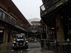The snow is falling, the snow is falling! #Gatlinburg