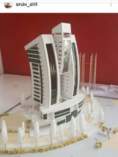 Model for a mixed use project. Concept Models Architecture, Maquette Architecture, Architecture Model Making, Futuristic Architecture, Architecture Plan, Amazing Architecture, Interior Architecture, Architectural Scale, Arch Model