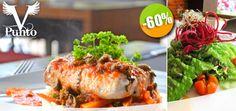 Punto V – $116 en lugar de $290 por 1 Filete de Pescado del Día con Ensalada Orgánica + 1 Pastel de Chocolate! Click