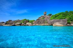 Similan Islands are located just 84 km northwest of the bustling crowds of Phuket. Koh Similan is one of the best-known island groups in the Andaman Sea, largely because of the wonders that wait beneath the clear blue waters that surround it. Generally counted among the 10 most