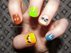 Muppet nails...so cute.  But I am not steady-handed enough to do this myself!