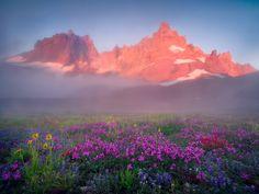 Mist Mountain Colors Oregon's Three Sisters Wilderness  photo  MarcAdamus