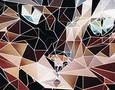 """Check out new work on my @Behance portfolio: """"A cats face in low poly"""" http://be.net/gallery/48313133/A-cats-face-in-low-poly"""