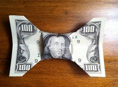 How to Fold a Dollar Bill Into a Bow Tie