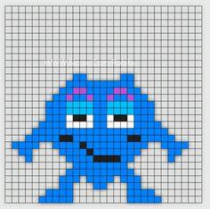 Min mamma jobbar som Förskollärare och frågade om jag kunde göra Babblarna i pärlplattor. Så jag satte mig ner vid skrivbordet och började pyssla ihop lite pärl Loom Beading, Beading Patterns, Small Cross Stitch, Saga, Halloween Crafts For Kids, Kids Corner, Baby Knitting Patterns, Perler Beads, Pixel Art