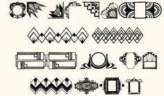 Art Deco Motif font features art deco characters