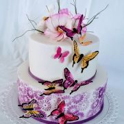 Butterfly cake - cake by alenascakes Rainbow Birthday, Birthday Cake, Butterfly Cakes, Little Cakes, Girl Cakes, Love Cake, Cake Decorating, Sweet Treats, Desserts