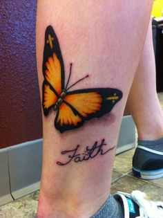 Faith Tattoo Designs For Men: The Butterfly Faith Tattoo Designs And Meaning For Men ~ tattooeve.com Tattoo Design Inspiration