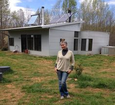 Off Grid Modern Prefab House Continues Spring With Solar, Sun and Snow and Chicks!
