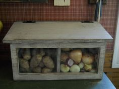 Primitive Rustic Potato and Onion Bin by PorchSittinPrimitive, $52.99