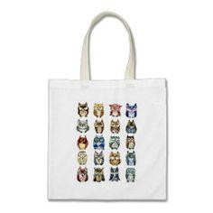 Cat and Owls Bag
