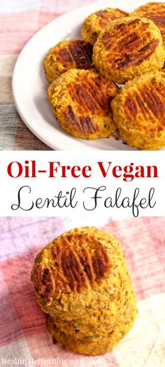 Oil-Free Vegan Lentil Falafel from Healthy Helper Blog...gluten-free and 100% plant-based! A fun twist on a traditional Middle Eastern staple! [grain-free, recipe, healthy food, lentils, falafel, vegetarian, low-fat, lunch, dinner, legumes, healthy recipe, clean eating]
