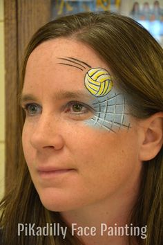 Volleyball Design by PiKadilly Face Painting.