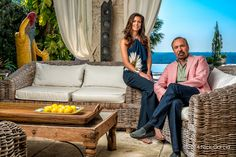 Jorge and Darlene Perez at their residence  for Caras Colombia Magazine.