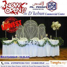 Garden Furniture, Home Furniture, Rectangle Table, Banquet Tables, Garden Supplies, Kuala Lumpur, Table Decorations, Design, Home Decor