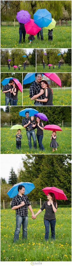 Fun rainy day family portrait session via urbanfigphotography.com